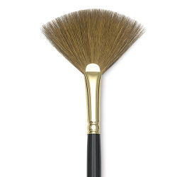 Silver Brush Renaissance Red Sable Brush - Fan, Long Handle, Size 4