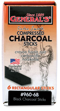 Jumbo Charcoal Sticks, Pkg of 6