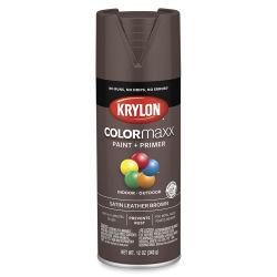 Krylon Colormaxx Spray Paint - Leather Brown, Satin, 12 oz