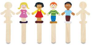 Figurine stick set