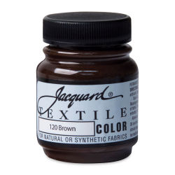 Jacquard Textile Color - Brown, 2.25 oz jar