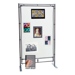 Freestanding Steel MeshPanel Display Wall