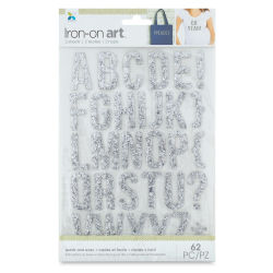 Momenta Iron-On Art - Silver Glitter Alphabet