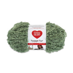 Red Heart Yarn Hygge Fur - Leafy