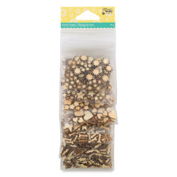 Hampton Art Shaker Fillers - Wood Veneer Shapes, Pkg of 8