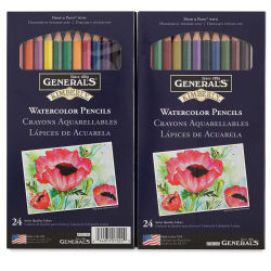 General's Kimberly Watercolor Pencil Set - Assorted Colors, Set of 24
