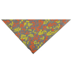 Lokta Paper - Forever Floral, Yellow, Orange, and Slate, 20'' x 30''