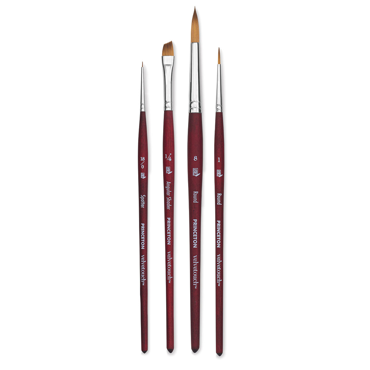 Mixed-Media Brush for Acrylic Series 3950 Mini Flat Shader Luxury Synthetic Watercolor /& Oil Princeton Velvetouch Artiste Size 0