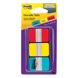 3M Post-it Tabs - Primary Colors, Pkg of 3