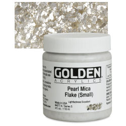 Golden Special Iridescent Acrylics - Pearl Mica Flake (Small), 4 oz jar