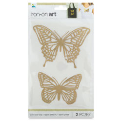 Momenta Iron-On Art - Gold Foil Butterflies