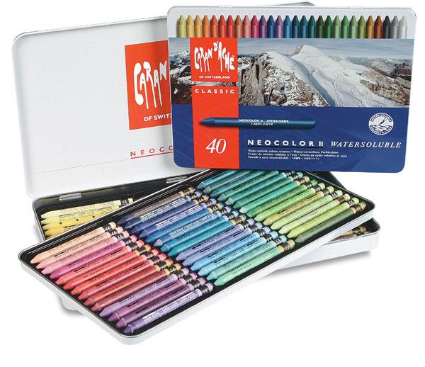 Indigo Blue Neocolor II Caran dAche Watercolour Crayon