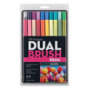 Tombow Dual Brush Pens - Floral Colors, Set of 20