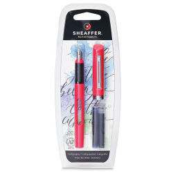 Shaeffer Viewpoint Calligraphy Pen - Fine Nib, Pink Barrel, with Cartridges