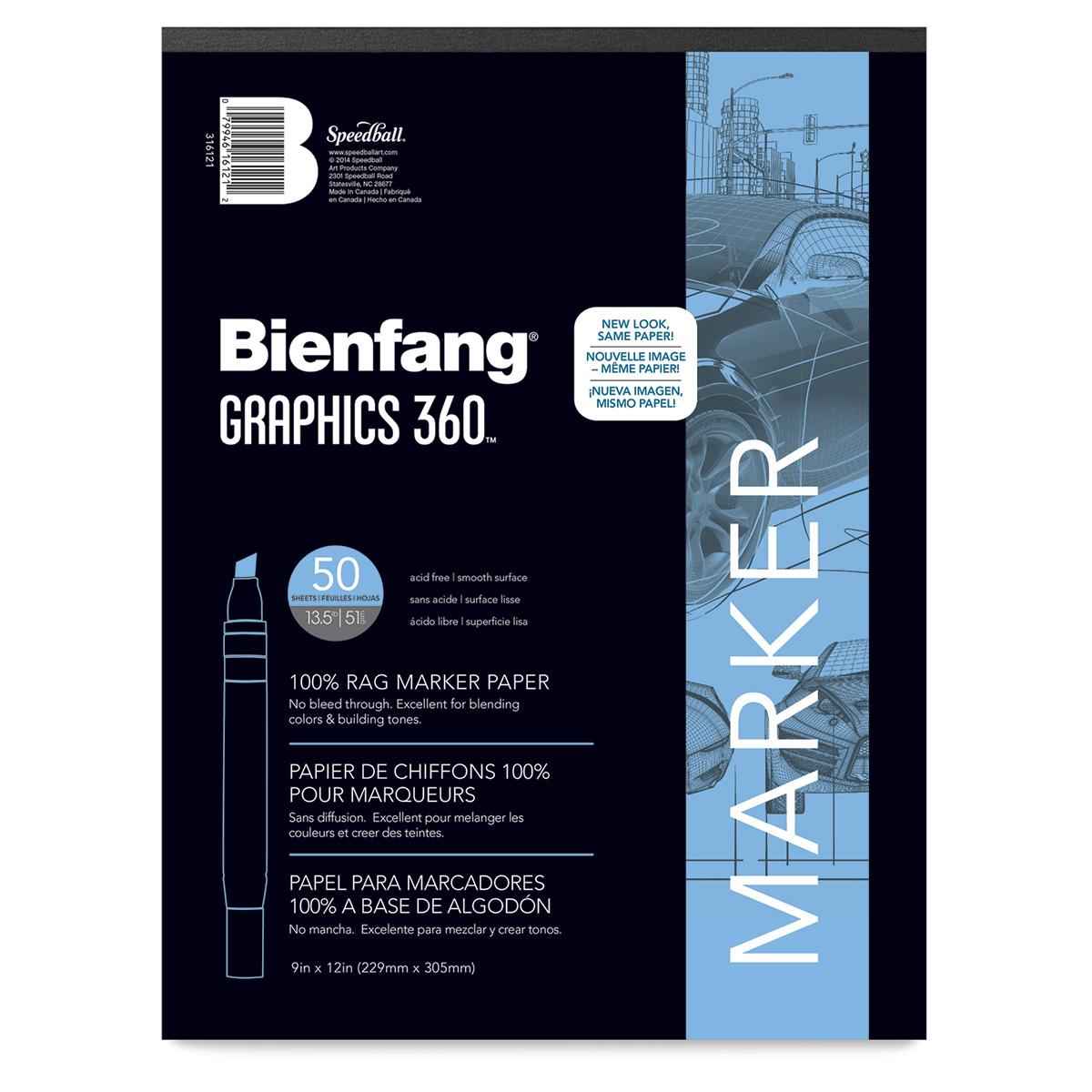 28cm x 36cm Borden /& Riley Boris Layout Paper for Markers 50 Sheets
