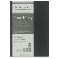 Strathmore Softcover 400 Series Toned Sketch Artist Journal - 8'' x 5-1/2'', Gray, 80 lb, 112 Pgs
