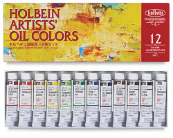 Holbein Artists' Oil Colors - Assorted Colors, Set of 12, 10 ml tubes