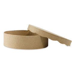 "DecoPatch Paper Mache Boxes - Round, 4"" W x 4"" L x 1"" H"