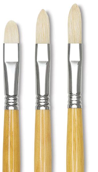 Escoda Clasico 4628 Oil and Acrylic Chungking White Bristle Paint Brush Bright Size 10