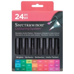 Spectrum Noir Marker Sets - Brights, Set of 24