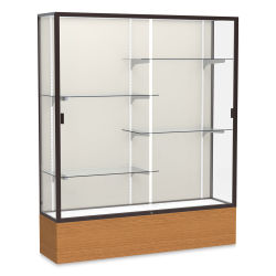 Waddell Reliant Series Display Case - 60'', Plaque Back