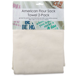 Craft Basics American Flour Sack Towels - Pkg of 2