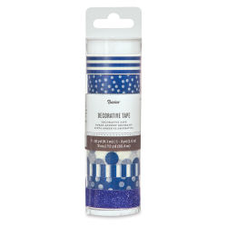 Darice Washi Tape - Navy, Set of 8
