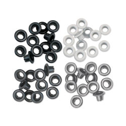 We R Memory Keepers Eyelets - Gray Assortment, Standard, Pkg of 60