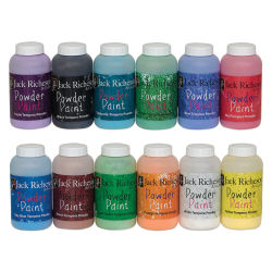 Richeson Powder Tempera Paint - Set of 12, 1 lb jars