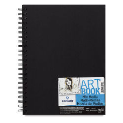 Canson Mix Media Spiral Bound Art Book - 5-1/2'' x 8-1/2'', Landscape, 40 Sheets
