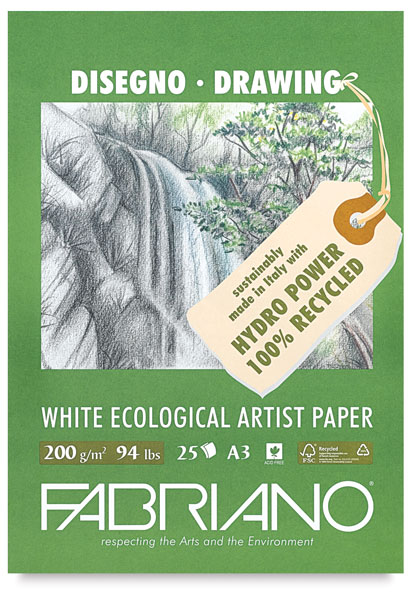 Fabriano Ecological Artist Drawing Pads And Rolls
