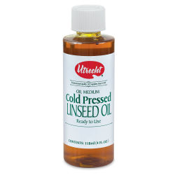 Utrecht Cold Pressed Linseed Oil - 4 oz bottle