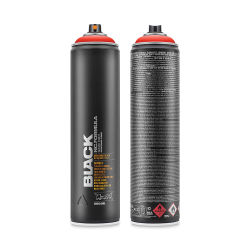 Montana Black Spray Paint - Power Red, 600 ml can