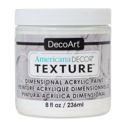 DecoArt American Decor Texture Paint - White, 8 oz