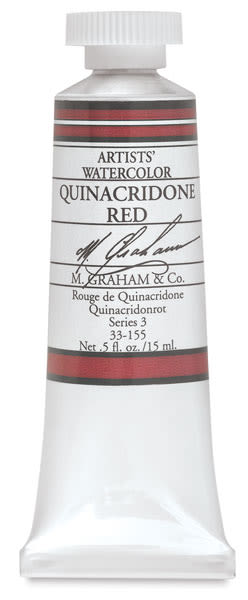 M. Graham Artists' Watercolor - Quinacridone Red, 15 ml Tube