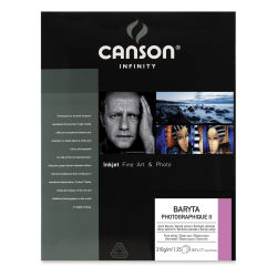 "Canson Infinity Baryta Photographique II Inkjet Paper - 8-1/2"" x 11"", 25 Sheets"