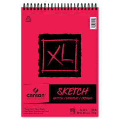 Canson XL Sketch Pad - 9'' x 12'', Wirebound Top, 100 Sheets