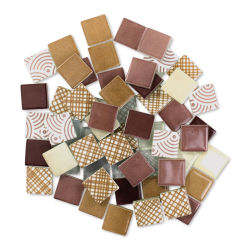 Mosaic Mercantile Patchwork Tiles - Maroon/Tan, 6 oz