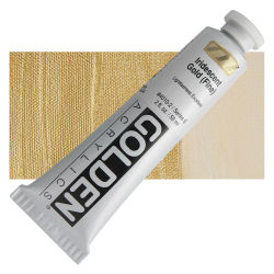 Golden Heavy Body Artist Acrylics - Iridescent Gold Deep (Fine), 32 oz Jar