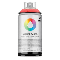 MTN Water Based Spray Paint - Fluorescent Red, 300 ml Can