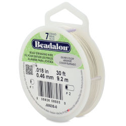 Beadalon 7 Bead Stringing Wire - Silver, 0.018'' x 30 ft