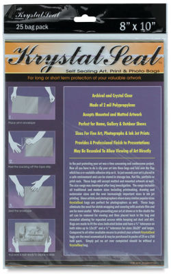 Self-Sealing Art, Print, and Photo Bags, Pkg of 25