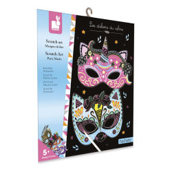 Party Masks Scratch Art Kit