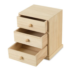 Darice Small Wood Cabinet with Three Drawers - Wide