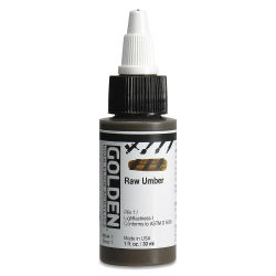 Golden High Flow Acrylics - Raw Umber, 1 oz bottle