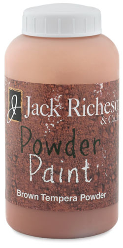 Richeson Powder Tempera Paint - Brown, 1 lb Jar