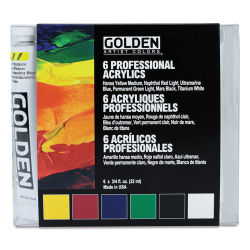Golden Heavy Body Artist Acrylic Set - Introductory Set, .75 oz Tubes. In package.