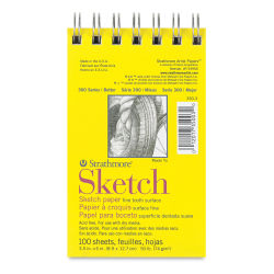 Strathmore 300 Series Sketch Pad - 3 1/2'' x 5'', Wire Bound, 100 Sheets
