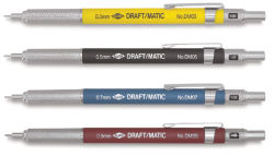 Alvin Draft/Matic Drafting Pencil - 0.3 mm Tip, Yellow