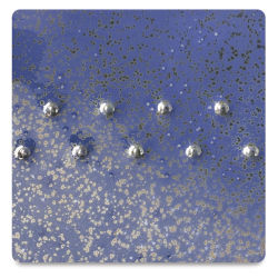 Amaco Potter's Choice Glazes - Blue Spark, PC-11. Color sample of light-dark color texturing.
